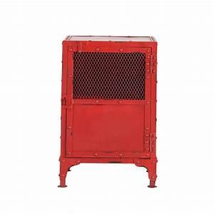 Table De Chevet Rouge : chevet indus rouge edison maisons du monde ~ Preciouscoupons.com Idées de Décoration