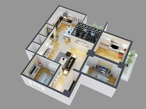 model detailed house cutaway view  cgtrader