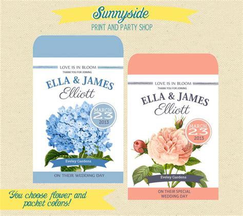 custom printable seed packet favor diy wedding bridal shower baby seed favor pink