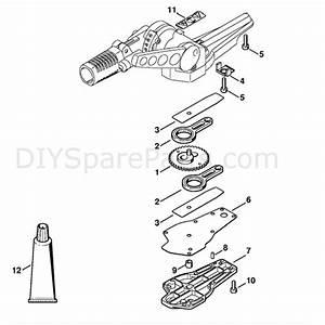Stihl Hl 100 Z Long Reach Hedgetrimmer  Hl100z  Parts Diagram  Blade Drive Gear
