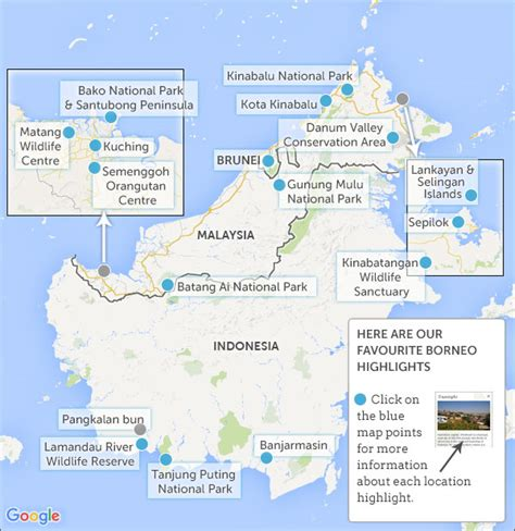 borneo highlights responsible travel guide  borneos
