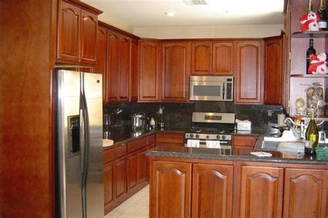 kitchen with walnut cabinets cherry antique kitchen cabinet pictures 6559