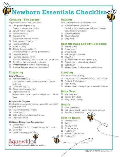 newborn baby essentials newborn essentials checklist save money with just the