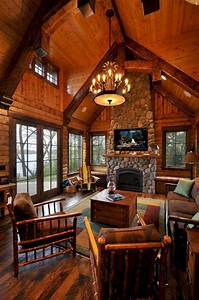 Superb, Cozy, And, Rustic, Cabin, Style, Living, Rooms, Ideas, No