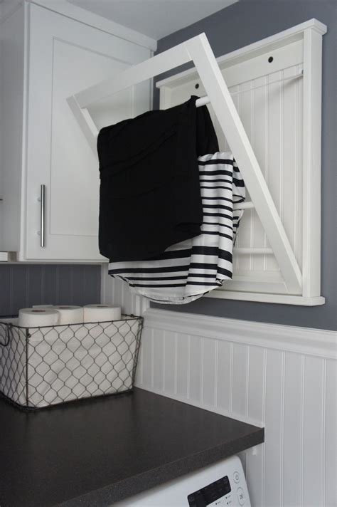 laundry room drying rack home with baxter house tour week 5 half bath laundry