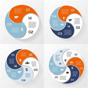 Vector Circle Infographics Set  Template For Diagram