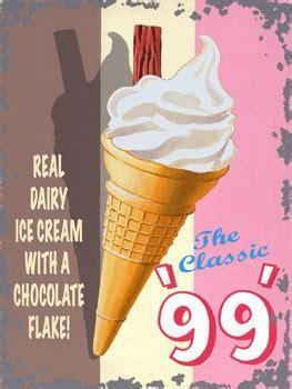 classic  ice cream vintage metal sign