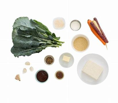Heirloom Carrots Glazed Tofu Bbq Sorghum Collard