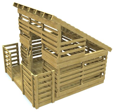 pallet playhouse plan diy project pauls playhouses