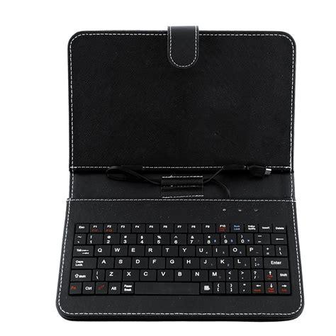 Leather Keyboar Tab 7 Micro pu leather stand cover with mini micro usb keyboard