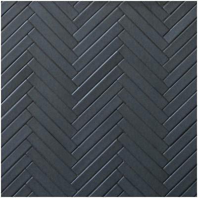 Black Herringbone Tile Hexagonal And Marble Look Patterned