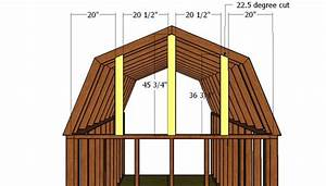 8x10 Gambrel Shed Roof