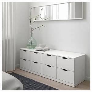 Commode 160 Cm : nordli commode 8 tiroirs blanc 160 x 54 cm ikea ~ Teatrodelosmanantiales.com Idées de Décoration