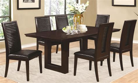 Chester Rectangular Pedestal Dining Room Set From Coaster