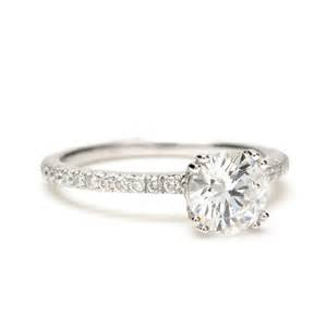 solitaire engagement ring with band engagement ring band 1