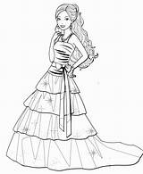 Barbie Coloring Pages Drawing Dresses Sketch Printable Gown Colouring Princess Sheets Coloringpagesfortoddlers Colorings Ball Getcolorings Getdrawings Templates Bridal Colorin Prom sketch template