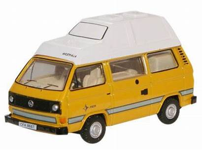 Diecast T25 Oxford Vw Camper Yellow Bamboo