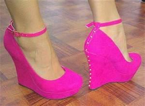 Neon Pink Wedges