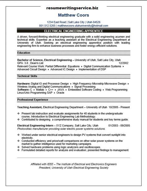 sle cv apprenticeship