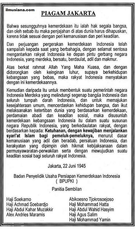 Isi dari Piagam Jakarta