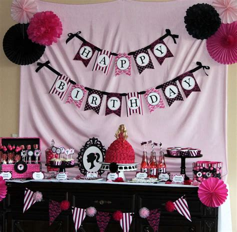 christmas mantle garland barbie inspired birthday party ideas photo 11 of 19