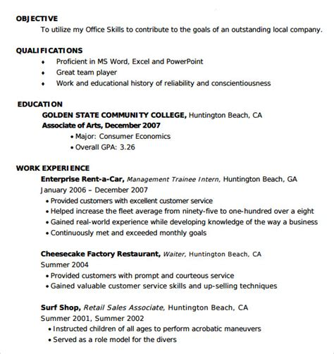 entry level resumes templates 51 images entry level