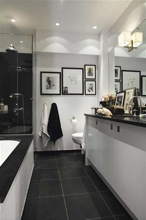 Black Bathroom Floor Tiles by 33 Stunning Pictures And Ideas Of Bathroom
