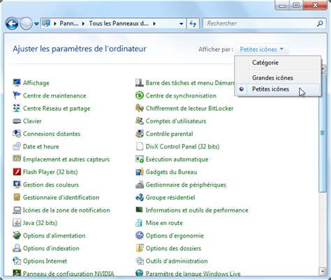 bureau à distance windows panneau de configuration windows 7 aidewindows