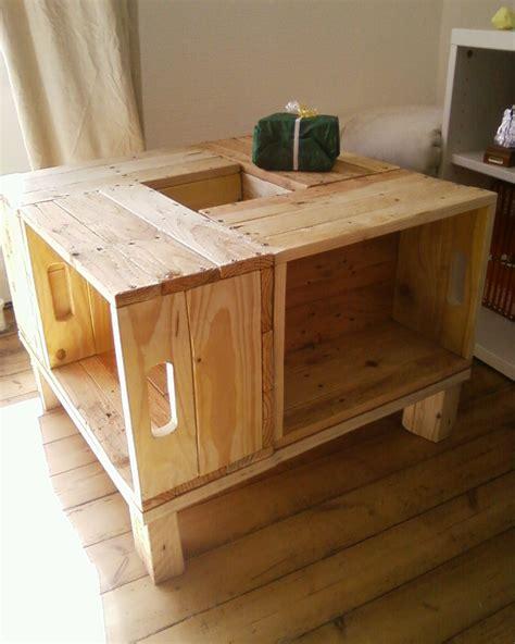 meuble palette bois meuble en bois de palette table basse meubles et rangements par palettes bretonnes table