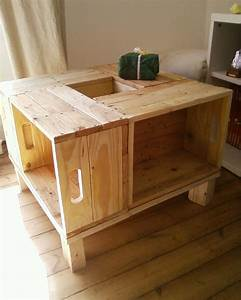 Table En Bois De Palette : table fait de palette de bois google search palette de bois pinterest google search ~ Melissatoandfro.com Idées de Décoration