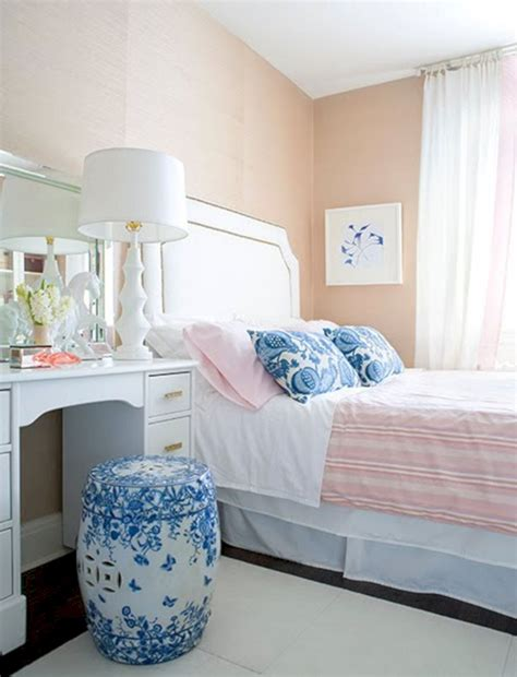 Peach White And Blue Bedroom 6 (peach White And Blue
