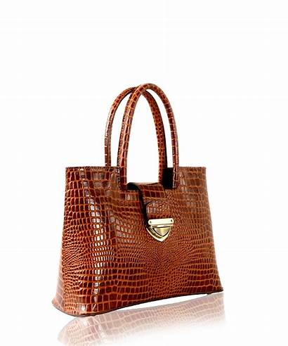 Tan Leather Embossed Croc Handbags Am Crocodile