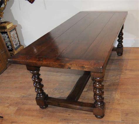 oak refectory table barley twist legs tables