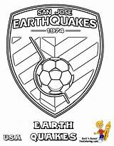 Coloring Soccer Pages Earthquake Logos Earthquakes Jose San Sheets Drawing Printable Mls Boys Usa Getdrawings Sports Bright Choose Colors Favorite sketch template