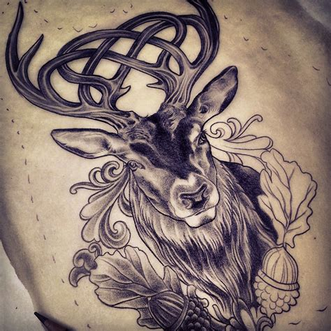 celticstagtattoo celtic stag tattoo design  adam sky