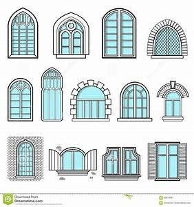 A Set Of Vintage Windows Vector Stock Vector - Image: 83674081