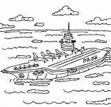 Coloring Carrier Aircraft Uss Printable Nimitz sketch template