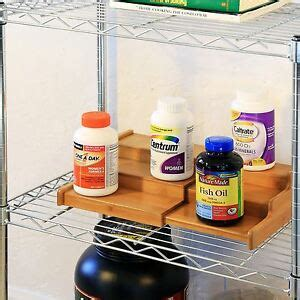 Step Spice Rack by 3 Tier Expandable Bamboo Spice Rack Step Shelf Organiser