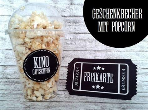 kinogutschein kinobecher einladung ins kino von kitsch