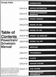 1994 Ford Big Truck Cd Repair Shop Manual F600 F700 F800
