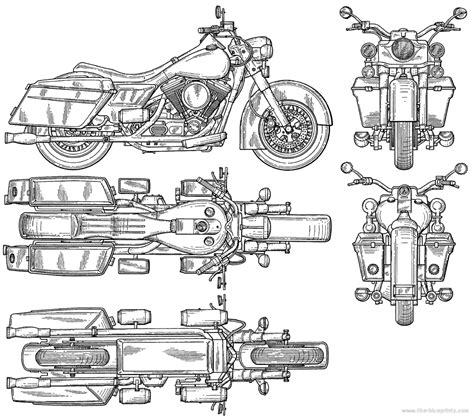 Motorcycle Bike Blueprints For 3d Modeling Cgfrog