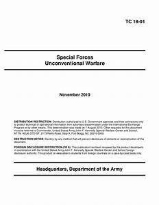 U S  Army Special Forces Unconventional Warfare Training
