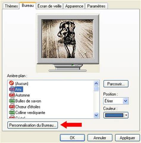 faq affichage comment afficher les éléments du bureau