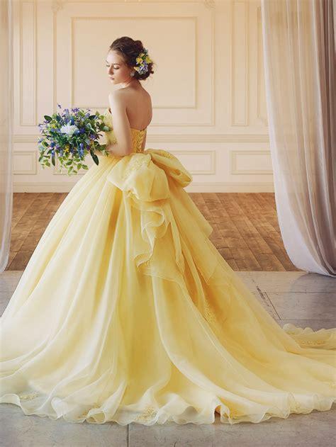 catch  spring breeze  colored wedding dress