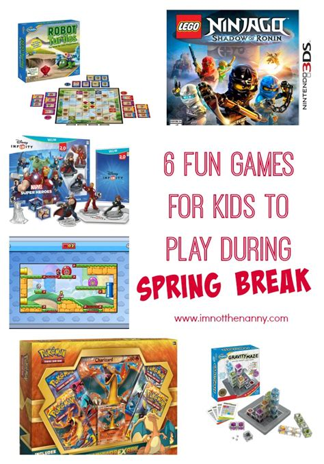 6 Fun Games For Kids To Play During Spring Break + Ninjago