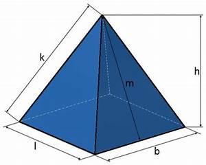 Höhe Von Pyramide Berechnen : pyramide kanten fl che volumen einer pyramide berechnen ~ Themetempest.com Abrechnung