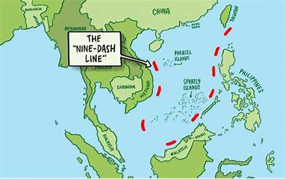 Sea China South Dash Nine Line Map