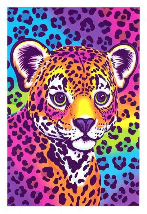 lisa frank hunter  leopard cub postcard