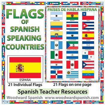 flags  spanish speaking countries  woodward education