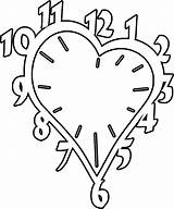 Clock Coloring Printable Vorlagen Uhr Heart Dxf Patterns Scroll Malvorlagen Saw Nachts Relogio Valentines Colorir Google Template Wood Fuer Clocks sketch template